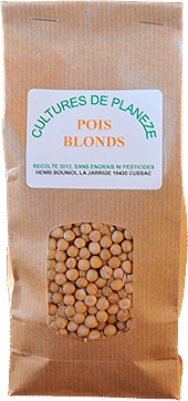 sachet pois blonds